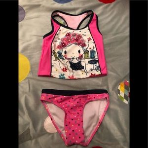 Girls two piece bathing suit